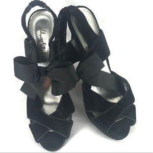 """VELVET HEART """"Gisellle"""" stiletto bow ankle strap"""